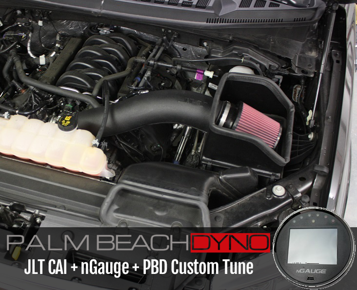 nGauge and JLT CAI with Naturally Aspirated PBD Custom Tuning for 2015-2017  F150 V8