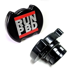 JC Customs Billet 1/4 Turn Oil Cap - RUN PBD Logo