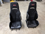 2 Kirkey Economy Drag Seats with Corbeau mounts and sliders for 2015+ Mustang GT - USED