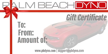 Palm Beach Dyno Gift Certificate