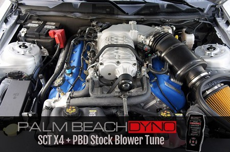 2007-2014 GT500 SCT X4 Programmer with Palm Beach Dyno Stock Blower Tune