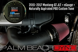 nGauge and JLT CAI with Naturally Aspirated PBD Custom Tuning for 2015-2017 Mustang GT