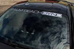 Palm Beach Dyno Windshield Banner