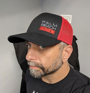Palm Beach Dyno Mesh Snap Back Hat - Black and Red